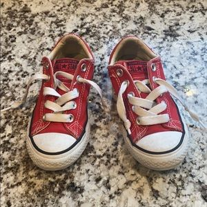 Children's size 12 red converse sneakers